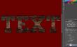 Hoe maak ik brieven van hout-branden in Photoshop?