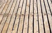 Zelfgemaakte houten terras reiniger