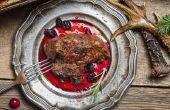 Hoe krijg ik de wilde smaak uit herten vlees