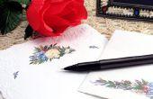 Hoe schrijf je medeleven en Bedankkaarten