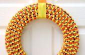 Hoe maak je een Candy Corn krans