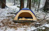 Hoe om te verblijven warme Tent kamperen bij koud weer