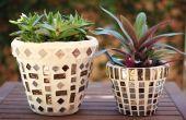 Hoe te een mozaiek van een klei Pot
