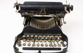 Delen van een schrijfmachine en hun betekenis