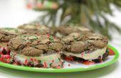 Hoe maak je Mexicaanse warme chocolademelk ijs Sandwiches