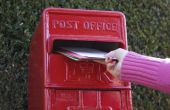 Het verzenden van een brief uit het Verenigd Koninkrijk naar de VS
