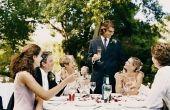 Wie zit op de gereserveerde tafel op de bruiloft?