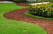 Creëren van een gebogen tuin-pad