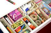 Maak uw eigen kartonnen doos Desk lade organisatoren