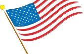 Het weergeven van Amerikaanse vlaggen op een voertuig