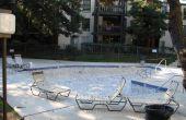 Wanneer om te schilderen een gips zwembad