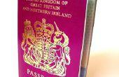 Het vernieuwen van een UK paspoort