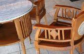 Aanwijzingen voor een zachte voor een stoel met houten wapens