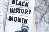 Zwarte geschiedenis idee van het verfraaien van de maand