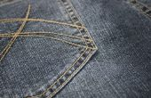 Hoe krijg ik witte verf uit Jeans