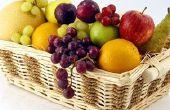 Het rangschikken van Fruit in een mandje