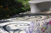 Dek Landscaping ideeën met geplette Rock