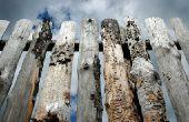 Verf verwijderen van ruw gezaagd hout