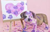 Veilige verf te gebruiken voor het maken van een hond Paw afdruk