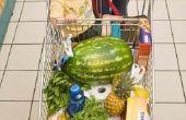 Het maandelijkse Budget voor voedsel voor een gezin van vier
