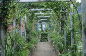 Hoe maak je een boog van de rustieke tuin