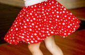 Hoe maak je een rok van Minnie Mouse