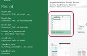 Het instellen van een eenvoudige Excel-Spreadsheet