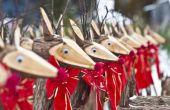 Grote kerstcadeaus gemaakt van hout