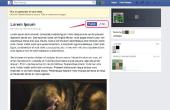 Hoe maak je een Blog met Facebook
