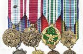 Hoe te dragen Marine medailles correct