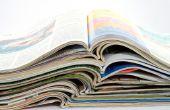 Hoe maak je een mand van geweven papier met een gevouwen Magazine