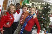 Plaatsen om een bedrijfsfeest voor Kerstmis