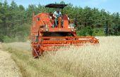 Hoe om te oogsten van tarwe met een Case IH 2588 combineren