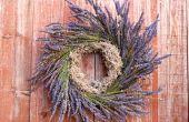 Hoe maak je een lavendel krans