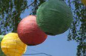 Hoe maak je een papier lantaarn bal die plooien