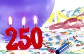 Wat Is de Term voor een 250e verjaardag?