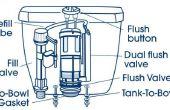 Hoe te repareren van een Dual-Flush Toilet waarop houdt