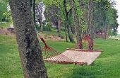 Hoe ver uit elkaar bomen moet voor een hangmat?
