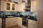 Eiken keukenkasten schilderen een Espresso Brown