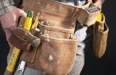 Hoe schoon een levering Tool Belt