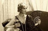 Vrouwen Flapper make-up in de jaren 1920