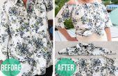 Hoe maak je een boer Blouse uit een Button-Down Shirt