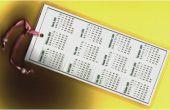 Hoe maak je een bladwijzer kalender
