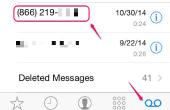Het gebruik van de Speaker wanneer controle voicemail op een iPhone