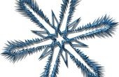 Hoe maak je buiten kerstversiering Snowflake