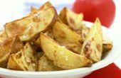 Hoe maak je gekookte aardappel partjes