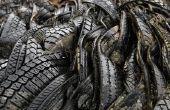 Hoe te knippen van oude banden & gebruik voor Mulch