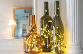 Hoe zetten Kerstverlichting in een fles wijn