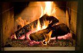 Hoe te branden van hout in een open haard