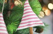 DIY kaneel geurende stof boom ornamenten